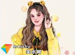 「水彩人物绘」黄色调少女-美术高考视频教学