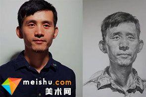 素描头像男中年二-美术高考视频教学