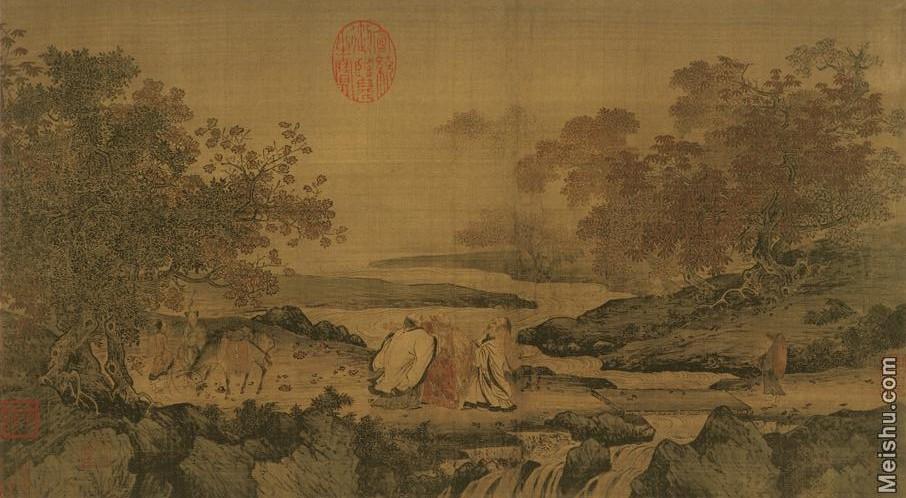 【打印级】GH7280051古画山水风景虎溪三笑图宋佚名镜片图片-64M-4877X2685_1267476.jpg