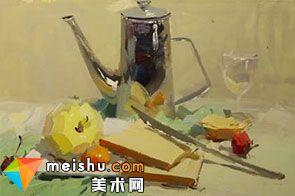 水粉静物水壶-美术高考视频教学(一)