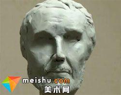 雕塑老人头部结构骨骼肌肉形体空间意识建立教学