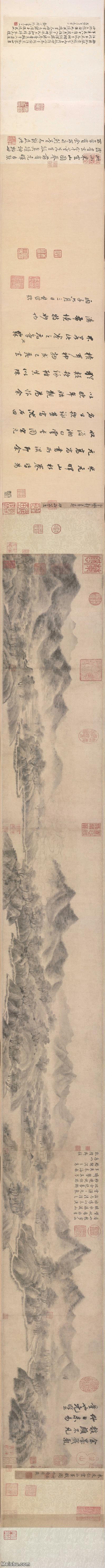 【欣赏级】GH7270753古画宋-米友仁-云山墨戏图卷B版长卷图片-83M-20806X1400_1314308.jp