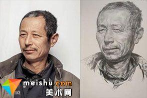 素描头像男老年-美术高考视频教学