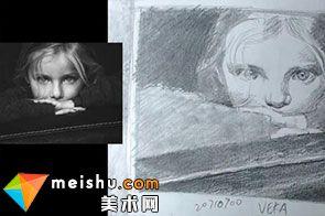 可爱小女孩素描人物头像画教学视频(共二集)