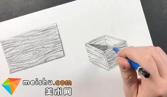 「素描」美术教程(英文)8-03-木质纹理及应用