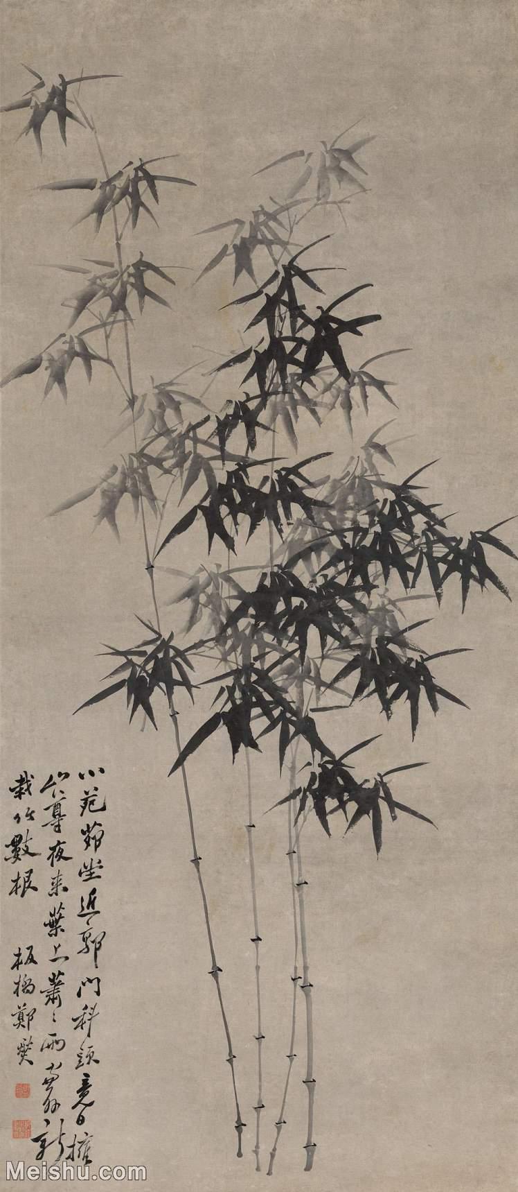 【打印级】GH6085514古画树木植物-墨竹图立轴图片-69M-3252X7462_18025197.jpg