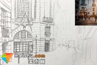 「素描」美术教程(英文)7-03-建筑物静物素描