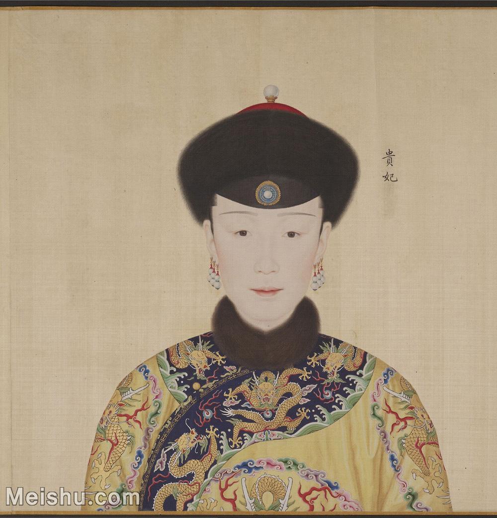 【印刷级】GH6151055古画册页人物清郎世宁高宗帝后像-贵妃图片-8M-1715X1785.jpg