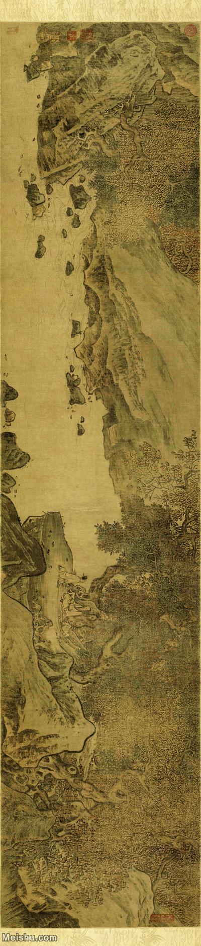 【打印级】GH7270609古画宋-佚名-秋林观泉图卷-绢本A版长卷图片--113M-11659X2906.jpg