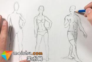 「素描」美术教程(英文)10-01-人体轮廓
