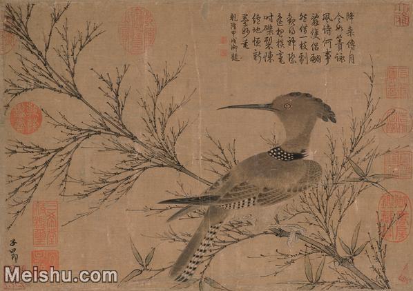 【印刷级】GH6105037古画镜片赵孟頫\-幽篁戴胜图图片-83M-4952X3500_7526003.jpg