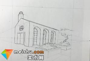 「素描」美术教程(英文)6-11-学习画真实的透视图