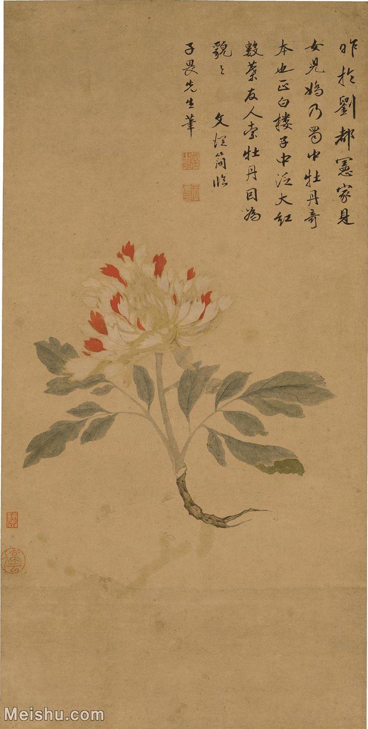 【印刷级】GH6040049古画立轴-明 文从简-临唐子畏女儿娇图轴图片鲜花卉植物-108M-3787X7484_442