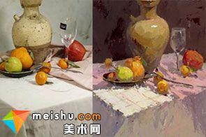 水粉静物竖幅罐子-美术高考视频教学