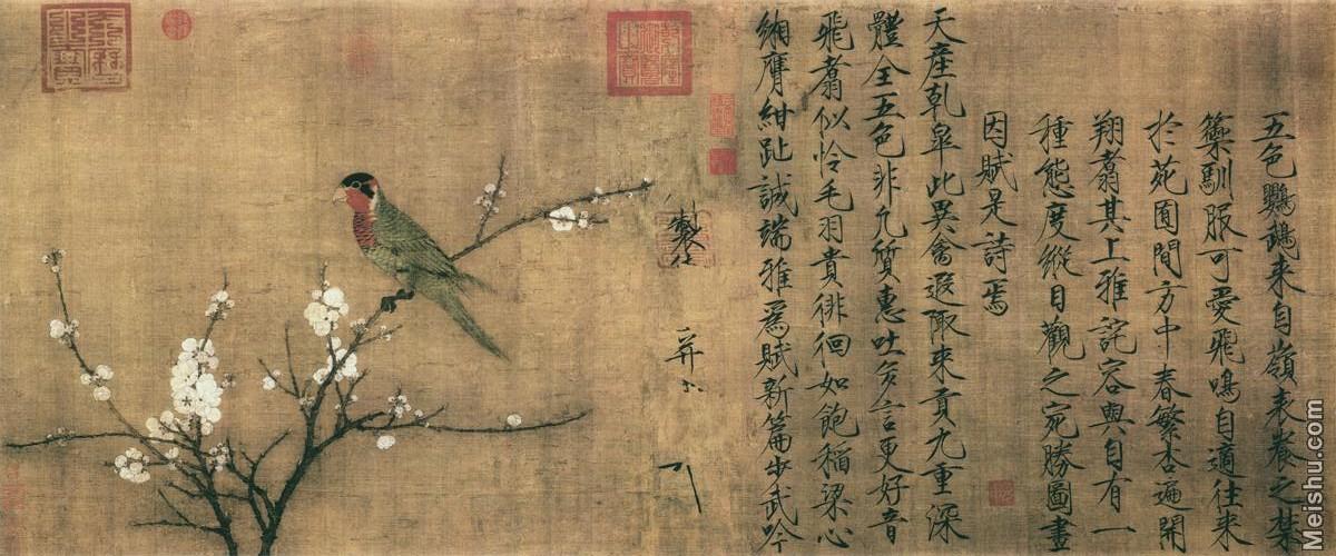 【超顶级】GH7280217古画花鸟宋 赵佶 五色鹦鹉图镜片图片-118M-9990X4163.jpg