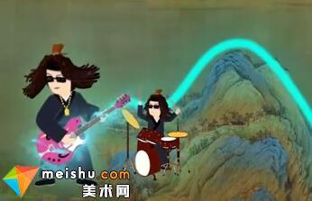 用摇滚乐解读古画《千里江山图》,太酷了!(王希孟)-艺术很难吗