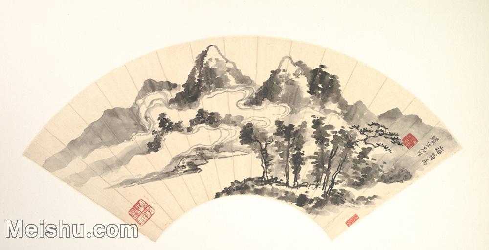 【欣赏级】GH6070375古画山水风景扇面图片-5M-1995X1020.jpg
