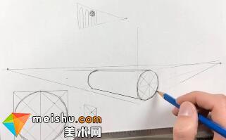 「素描」美术教程(英文)6-09-学习在透视图上添加环形图案