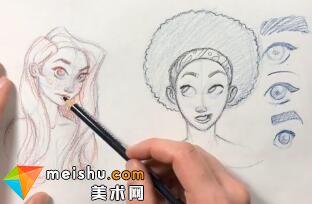 「素描」美术教程(英文)11-动画人物设计