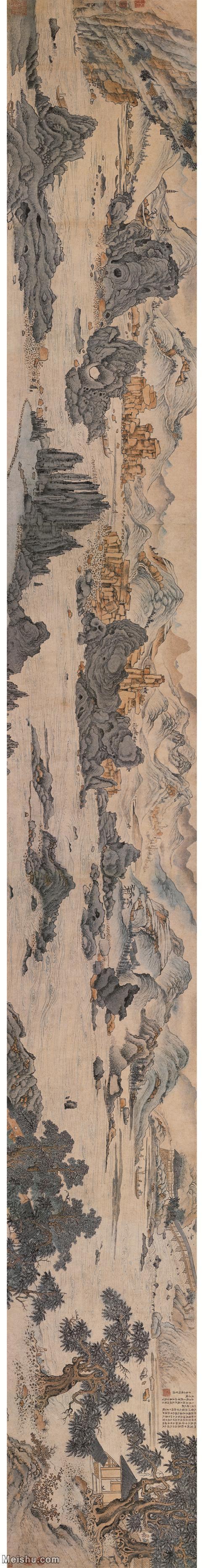 【超顶级】GH7280185古画山水风景项圣漠闽中山水镜片图片-345M-25981X3487.jpg