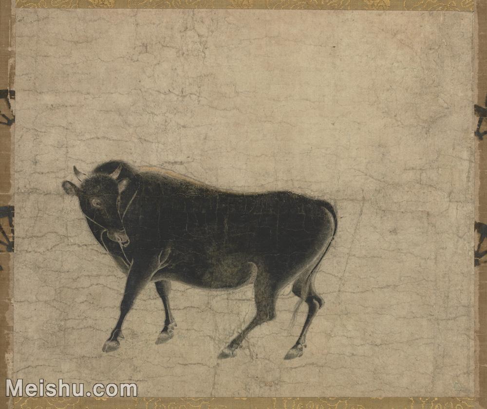 【印刷级】GH6080190古画动物骏牛图卷断简-国画水墨小品-30x25-95.5x80-小品图片-79M-5758X