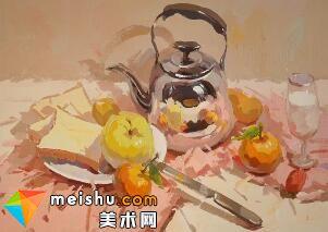 水粉静物水壶-美术高考视频教学(二)