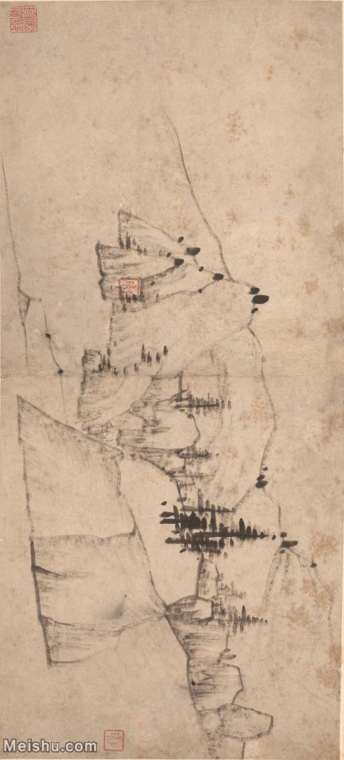 【印刷级】GH7280143古画山水风景清 汪之瑞 山水册页 纸本 镜片图片-63M-6048X2736.jpg