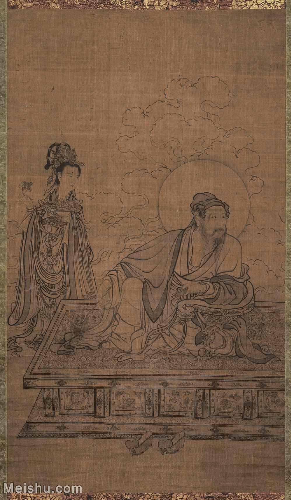 【超顶级】GH6086191古画人物李公麟-维摩居士像-东京博物馆立轴图片-389M-7717X13226_218337