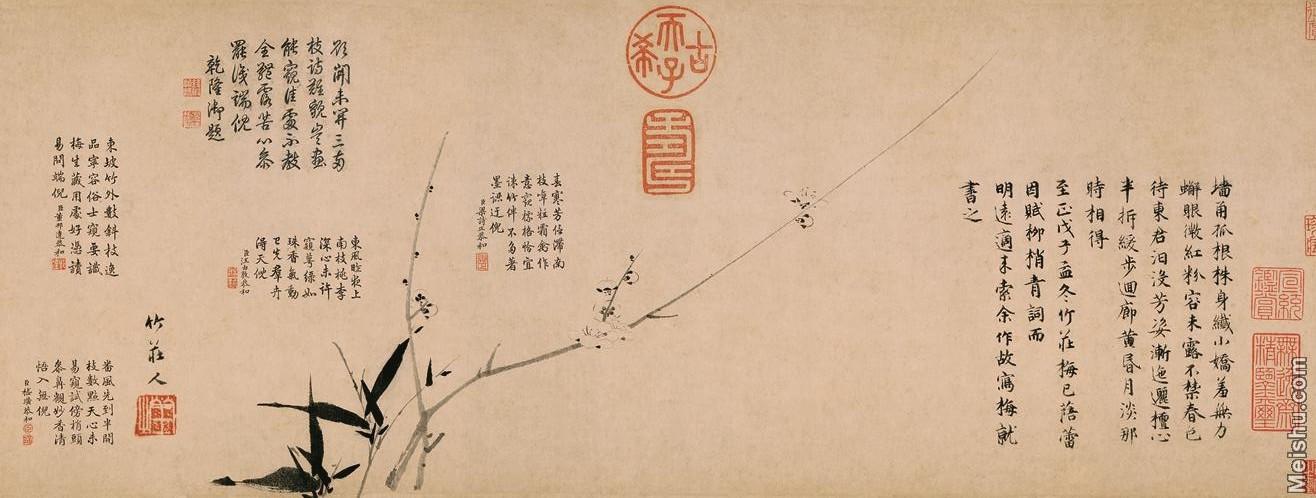 【印刷级】GH7280531古画植物雪中梅竹纸镜片图片-78M-9084X3445_19973666.jpg