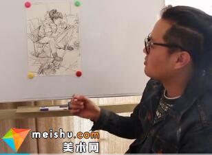 人物速写刘旭讲画-美术高考视频教学(一)