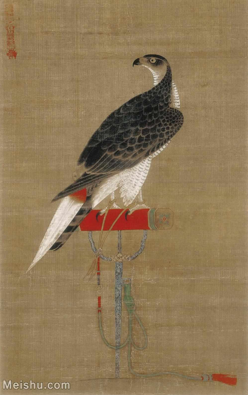 【印刷级】GH6155054古画立轴动物架上鹰图图片-108M-4724X7504_14081601.jpg