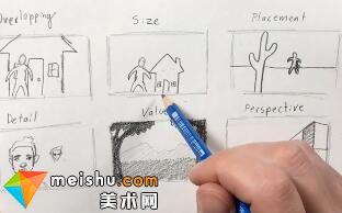 「素描」美术教程(英文)6-01-空间和透视图