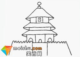 「简笔画10000例」-中国传统建筑-儿童简笔画教程