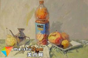 水粉静物果粒橙-美术高考视频教学