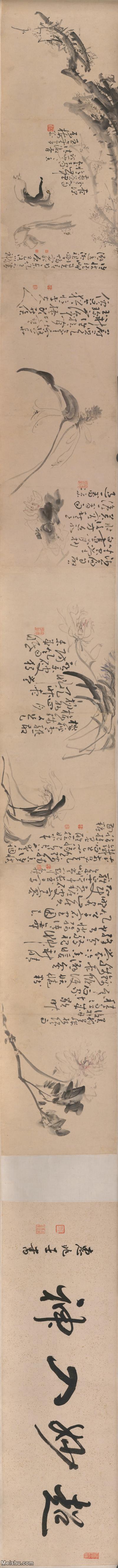 【打印级】GH7271140古画花卉图长卷图片-194M-29976X2262.jpg