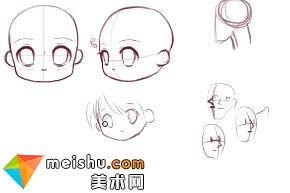 「轻微课」动漫绘画Q版头像四分之三侧面-手绘插画教程