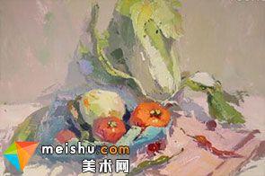 水粉静物白菜-美术高考视频教学
