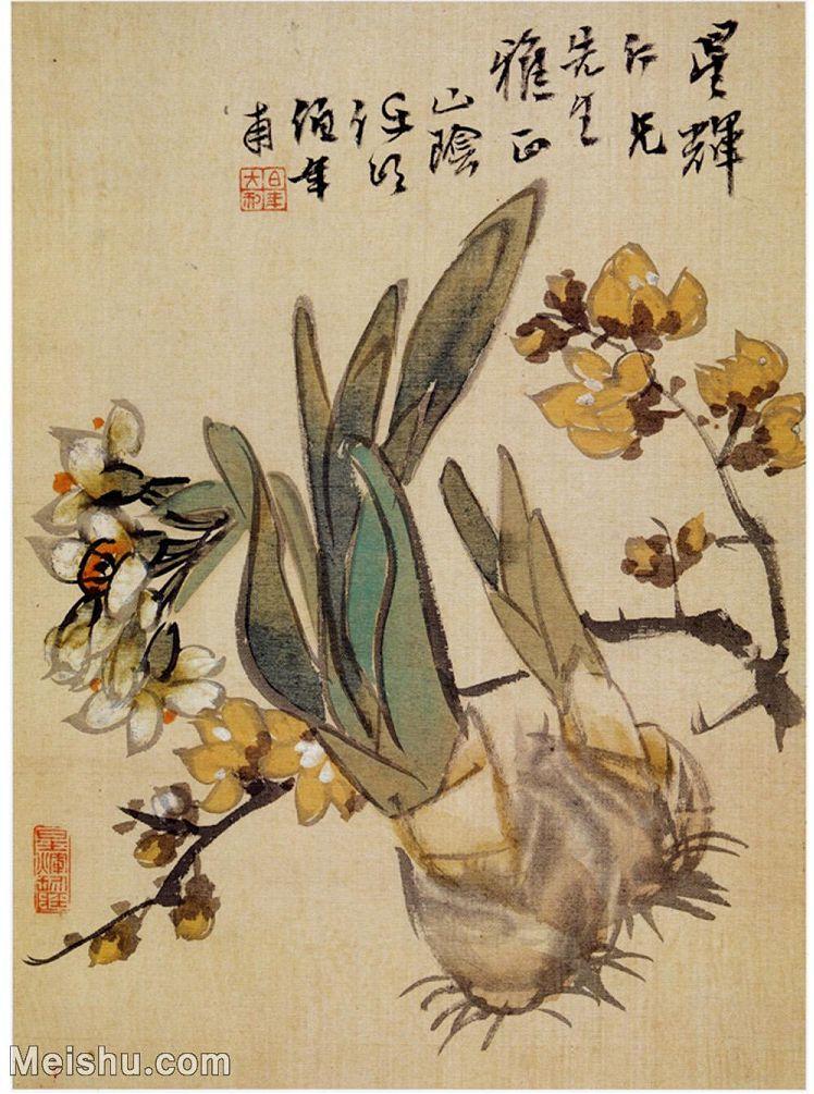 【印刷级】GH6060030古画任伯年花鸟册花卉花草册页图片-45M-3445X4629_56929148.jpg