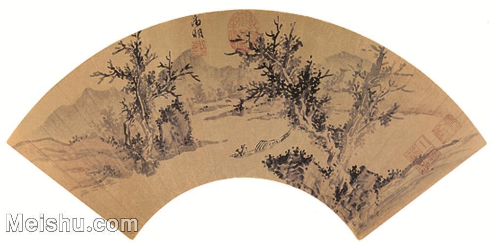 【欣赏级】GH6070279古画山水风景扇面图片-10M-2696X1345.jpg