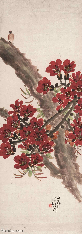 【超顶级】GH6085209古画花鸟鲜花卉岭南春色图-纸本-30x85-50x142-卉立轴图片-241M-4699X1