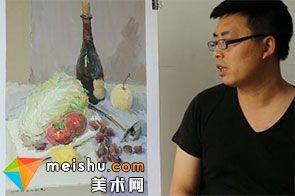 水粉静物赵亮白菜-美术高考视频教学