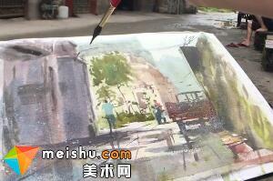 「水彩风景」堤围居民-手绘帮