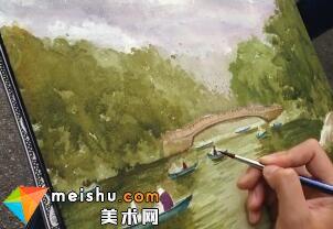 「水彩风景」中央公园(全集)-手绘帮