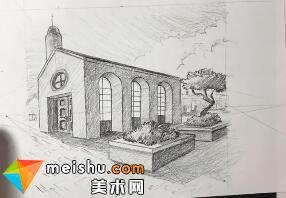 「素描」美术教程(英文)6-12-给真实的透视图添加光影