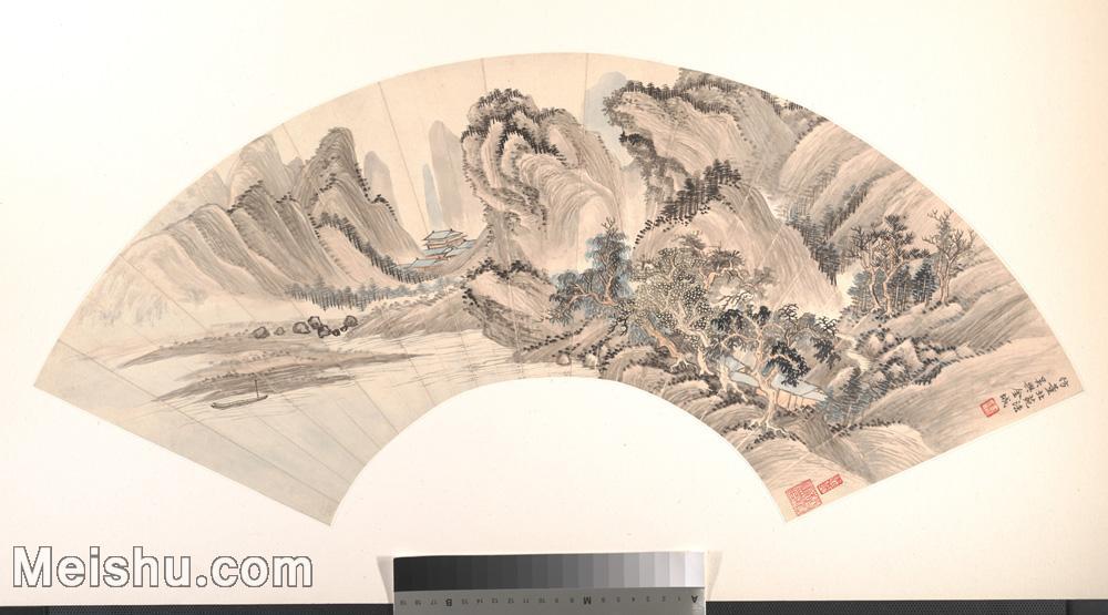 【打印级】GH6070342古画山水风景扇面图片-25M-4000X2221.jpg