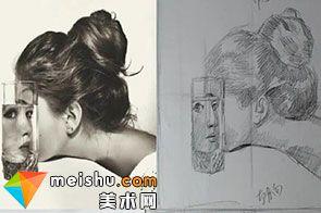 素描人物头像透明质感绘画教学(共二集)