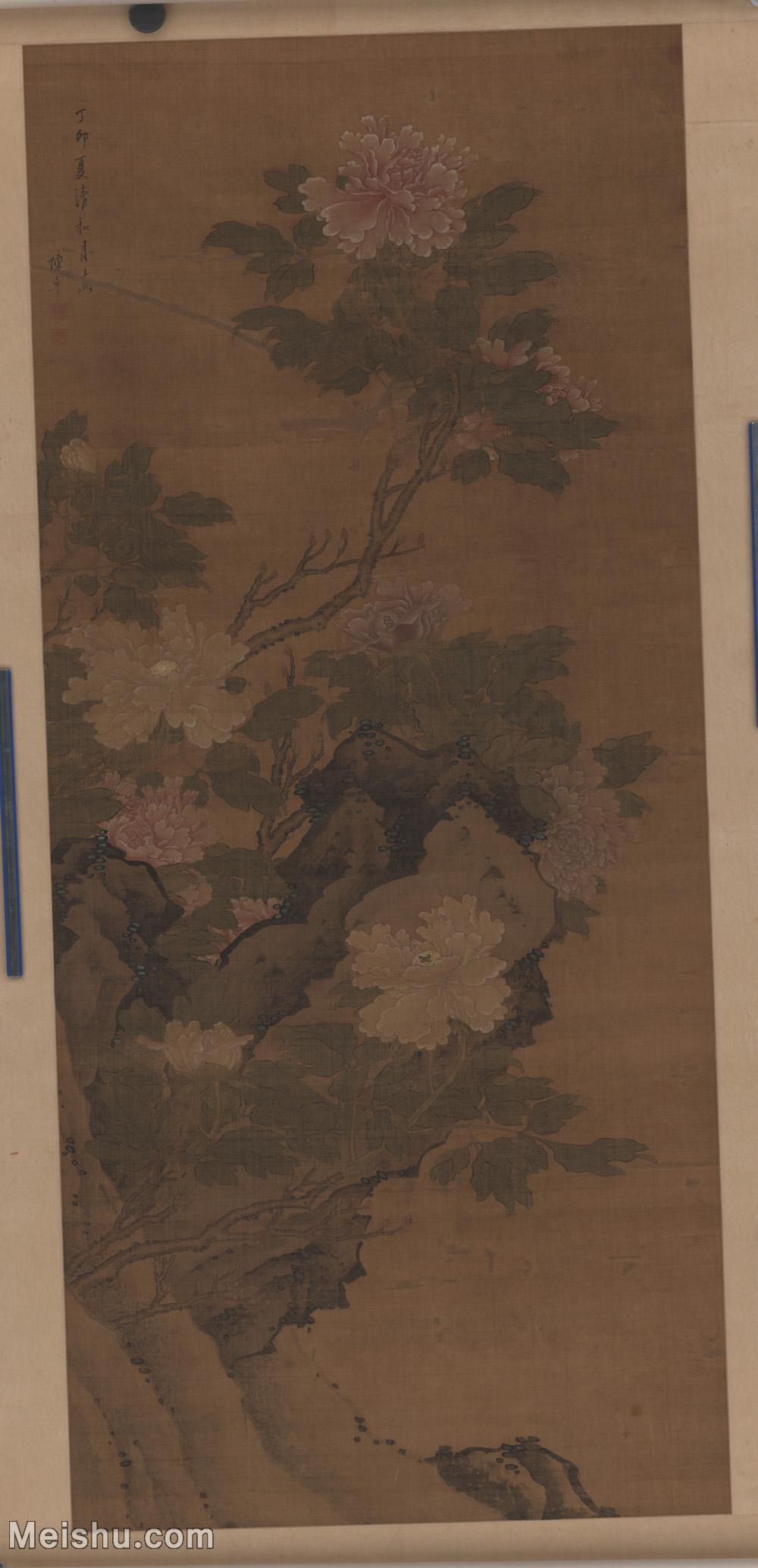 【超顶级】GH6085289古画花鸟鲜花卉设色牡丹图立轴图片-454M-8768X18112.jpg