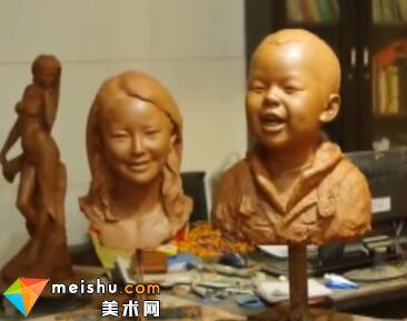 麦子雕塑肖像过程