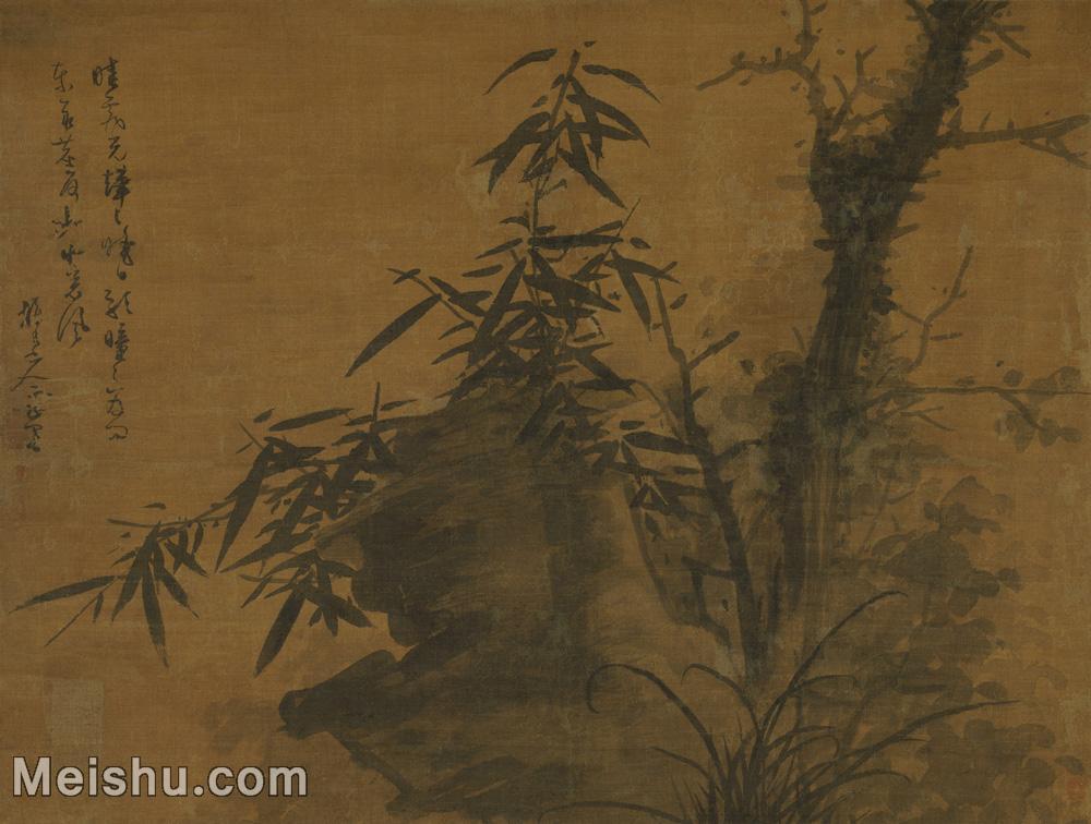 【超顶级】GH6080821古画树木植物吴镇枯木竹石图轴小品图片-813M-19397X14661.jpg