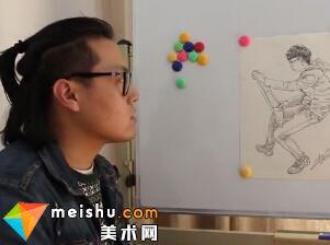 人物速写刘旭讲画-美术高考视频教学(三)
